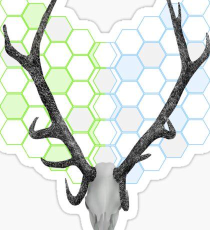 Stag Antlers Geometric Pattern Sticker