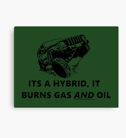 oil burning jeep hybrid Canvas Print