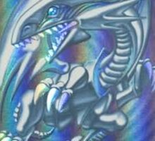 Blue-eyes white dragon Sticker