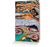 colored fabrics Greeting Card
