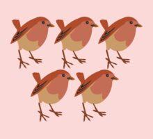 5 sweet little birds Kids Clothes