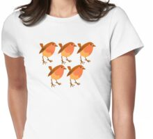 5 sweet little birds Womens Fitted T-Shirt
