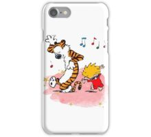 Calvin and Hobbes Dancing On The Floor iPhone Case/Skin