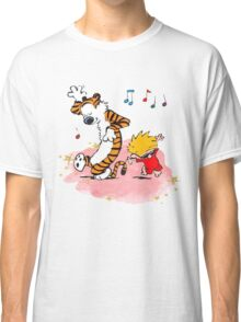 Calvin and Hobbes Dancing On The Floor Classic T-Shirt