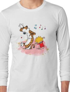 Calvin and Hobbes Dancing On The Floor Long Sleeve T-Shirt