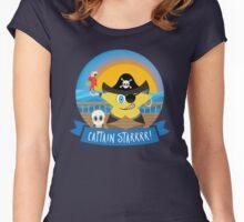 Aye Aye Captain Starrrr! Women's Fitted Scoop T-Shirt