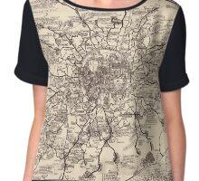 London Bus Map 1928 Chiffon Top