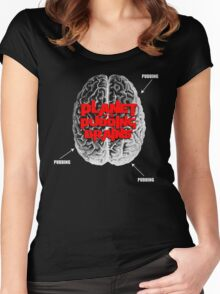 Planet Of The Pudding Brains Women's Fitted Scoop T-Shirt