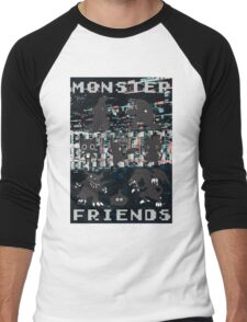 Monster Friends Men's Baseball ¾ T-Shirt