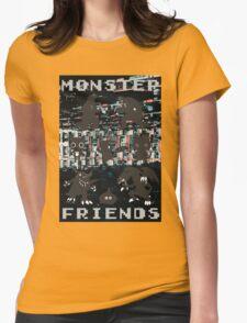 Monster Friends Womens Fitted T-Shirt