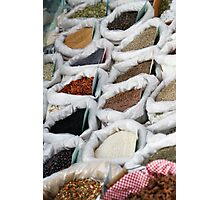 spices at the market Photographic Print