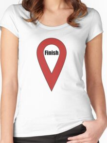Finish Here Couple or Kids Exploring Women's Fitted Scoop T-Shirt
