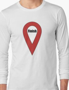 Finish Here Couple or Kids Exploring Long Sleeve T-Shirt