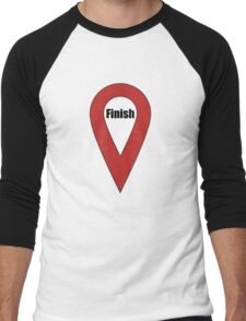Finish Here Couple or Kids Exploring Men's Baseball ¾ T-Shirt