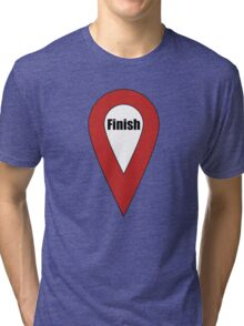Finish Here Couple or Kids Exploring Tri-blend T-Shirt