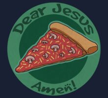 Children's Dear Jesus Pizza Amen Kids Tee