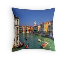 Light Traffic on the Grand Canal Throw Pillow