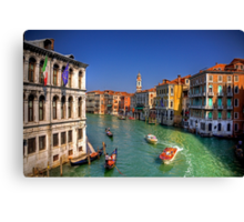 Light Traffic on the Grand Canal Canvas Print
