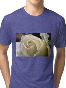 white roses Tri-blend T-Shirt