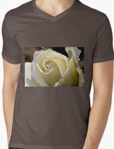 white roses Mens V-Neck T-Shirt