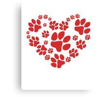 Love Paws Canvas Print