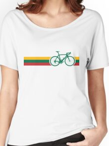 Bike Stripes Lithuanian National Road Race Women's Relaxed Fit T-Shirt