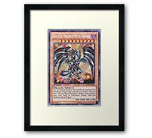 Darkness metal dragon Framed Print