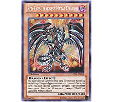 Darkness metal dragon Photographic Print