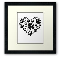 Love Paws Framed Print
