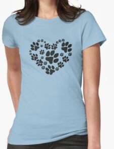 Love Paws Womens Fitted T-Shirt