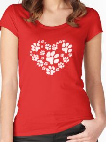 Love Paws Women's Fitted Scoop T-Shirt