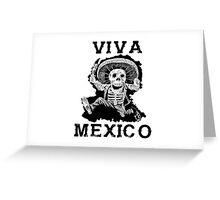 Viva Mexico Mad Dead Mariachi Greeting Card
