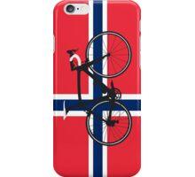 Bike Flag Norway (Big - Highlight) iPhone Case/Skin