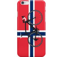Bike Flag Norway (Big - Highlight) iPhone Case/Skin