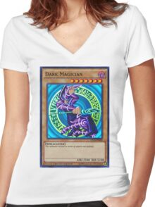 Dark Magician Women's Fitted V-Neck T-Shirt