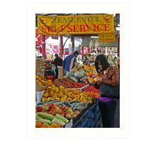 Queen Victoria Market, Melbourne. Art Print