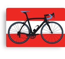 Bike Flag Austria (Big - Highlight) Canvas Print