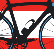 Bike Flag Austria (Big - Highlight) Sticker