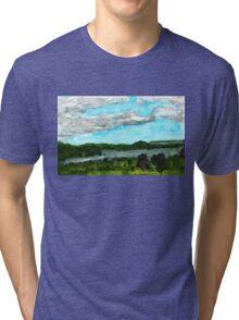 Henderson Harbor, New York, watercolor by Dan Vera Tri-blend T-Shirt