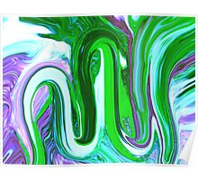Allah Abstract Painting Poster