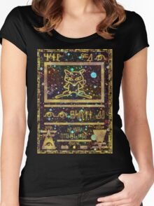 Ancient Mew Pokemon Card Women's Fitted Scoop T-Shirt