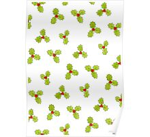 Christmas Holly and Berry Poster
