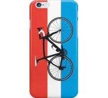 Bike Flag Luxembourg (Big - Highlight) iPhone Case/Skin