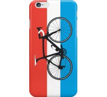 Bike Flag Luxembourg (Big - Highlight) iPhone Case/Skin