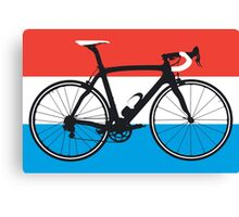 Bike Flag Luxembourg (Big - Highlight) Canvas Print