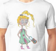 Windy Girl with Purse Unisex T-Shirt