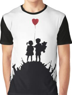 Banksy - 3 KIDS ON GUNS Graphic T-Shirt