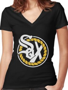 Chance The Rapper - SOX Women's Fitted V-Neck T-Shirt