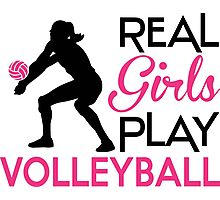 Real Girls play volleyball Photographic Print