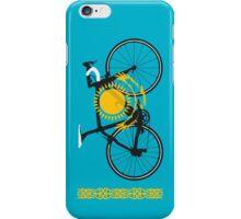 Bike Flag Kazakhstan (Big - Highlight) iPhone Case/Skin